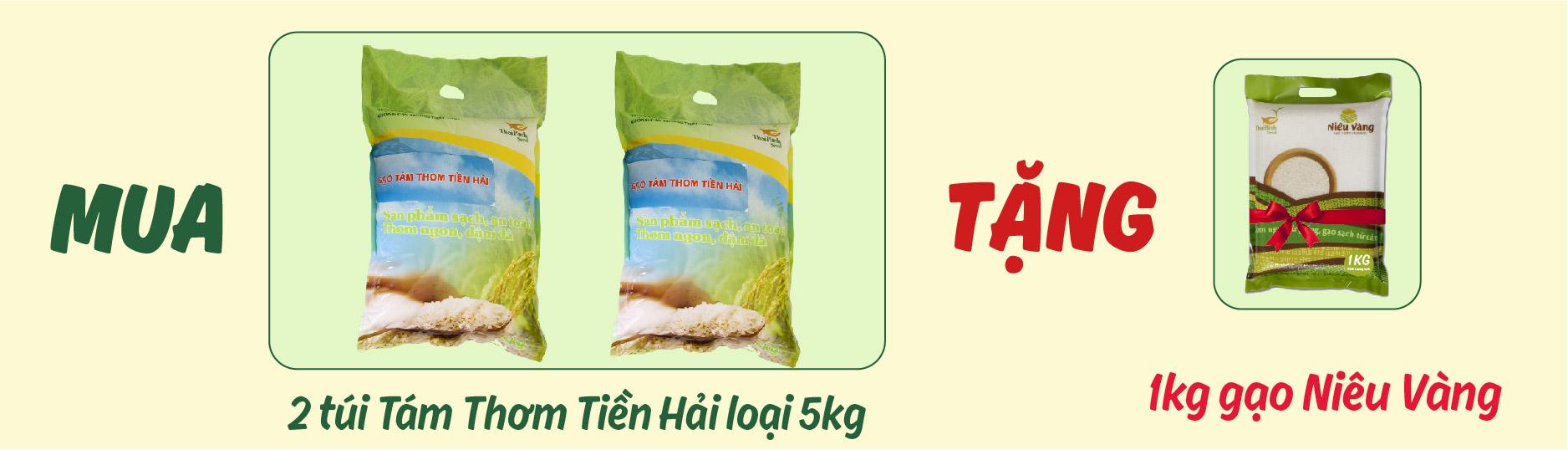 Gạo tám thơm Tiền Hải